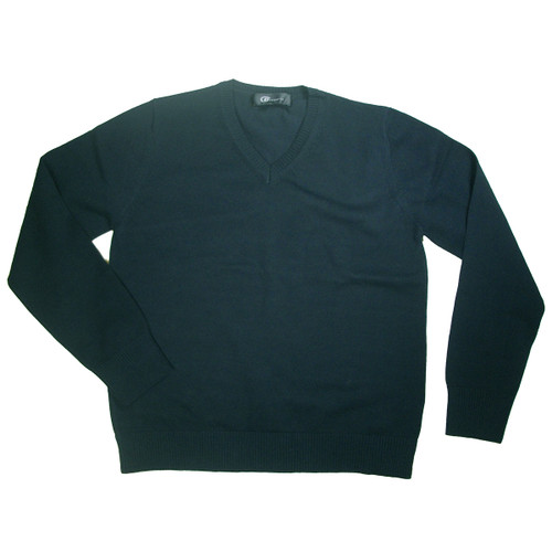 V-Neck Pullover Sweater - 100% Cotton