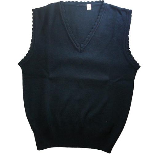 Scalloped Sleeveless Sweater Vest