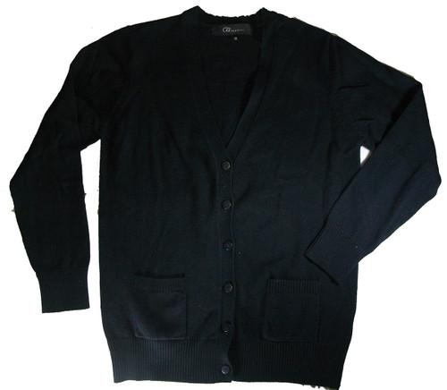 V-Neck Cardigan Sweater - 100% Cotton