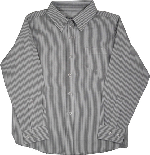 Oxford Blouses Grey White Stripe