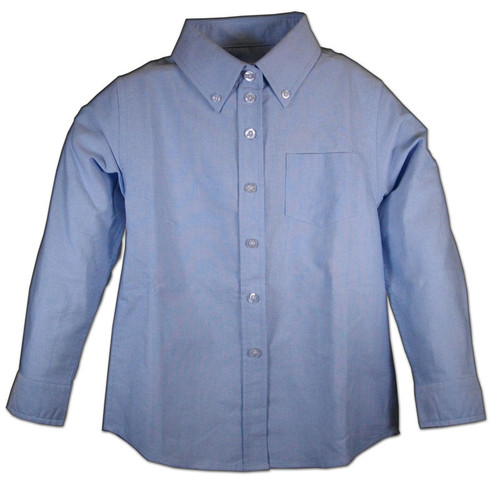 Girls Kids Oxford Blouses Blue or White