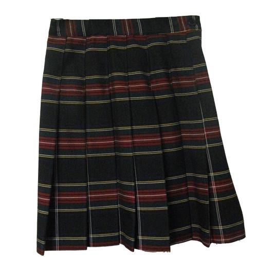 Girls School Uniform Pleated Skirt Plaid T