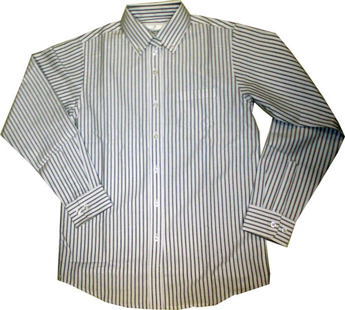 Oxford Striped Blouse Blouse Black/White