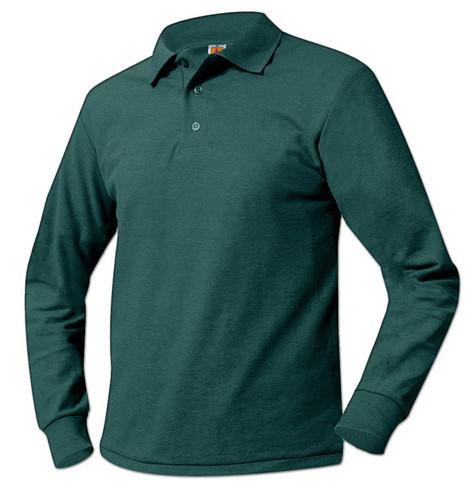 Pique Knit Long Sleeve Polo