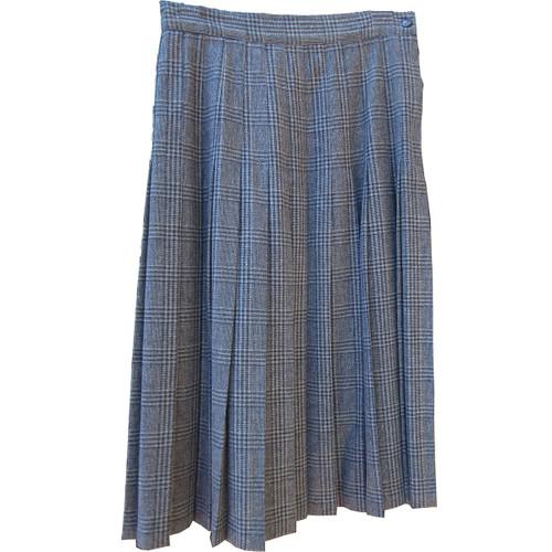 Women Plaid Wool Bland Skirt