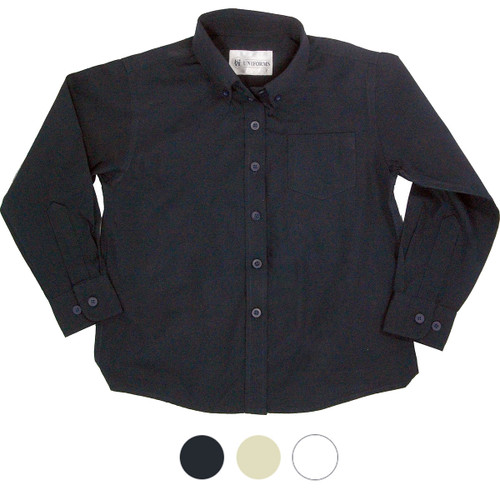 Girl's School Blouse Colors Navy or White or Yellow