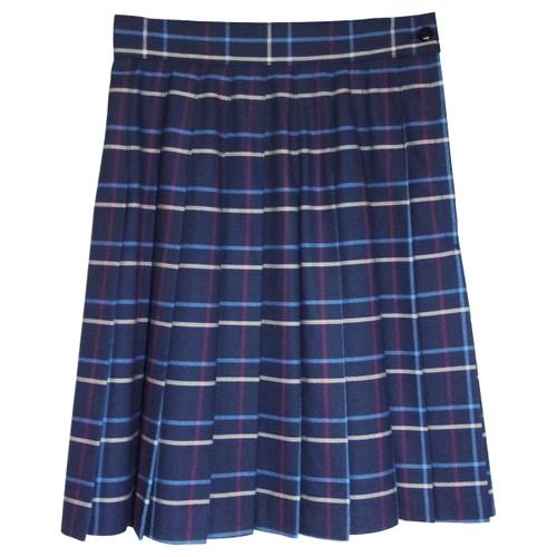 Girls School Uniform Pleated Skirt Plaid BB