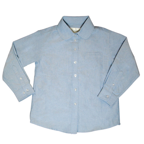 Oxford Girl's School Peter Pan Blouse Color Blue