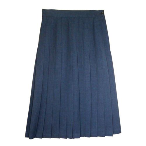 Juniors School Uniform Pleated Skirt Blue English Style Poly