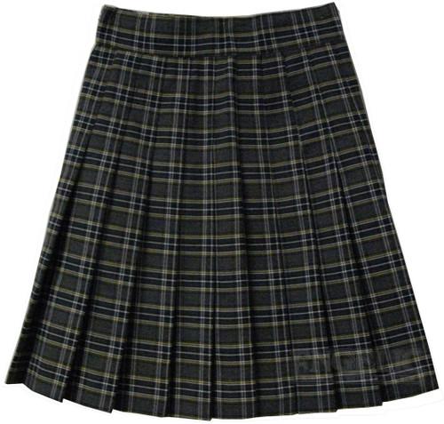 Girls School Uniform Pleated Skirt Plaid J 93-4