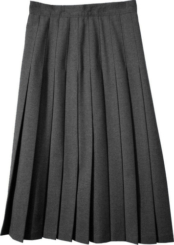 Juniors School Uniform Pleated Skirt Black English Style Poly