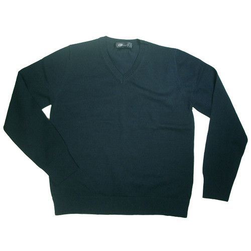 SWEATER V-NECK PULLOVER LONG SLEEVES W/BY Emb Shevach 100% COTTON