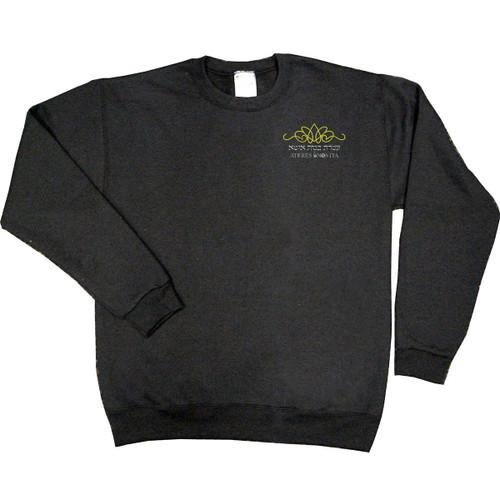 Crewneck Sweatshirt Black W/EMB ATERES BNOS ITA LOGO