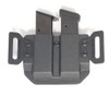 """THE ALL NEW HolsterCo """"Backup 2.0"""" is an OWB (Outside The Waistband) dual magazine carrier for comfortably carrying additional rounds. """"Backup 2.0"""" Features independently adjustable retention for both mags via the MRD (Mag Retention Device), and is available in all colors on our color chart and with pancake wings, speed ease clips or solid polymer injection belt loops.  This will fit nearly ANY double stack 9mm, 40 cal, or 357 Sig magazines!"""