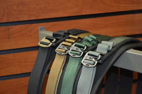 """Introducing, the HolsterCo Low-Profile EDC belt!  Our belts are made with two layers of 1.5"""" scuba webbing.  The webbing is attached via five rows of stitching for rigidity and durability.  The belt comes with a 1"""" accent webbing using a G-Hook belt buckle that is very thin, making the belt the perfect solution for concealed carry.  These belts work for general everyday wear, everyday carry, and are excellent for appendix carry since there is no large buckle to increase printing. Our belts have approximately five inches of adjustment. Standard thread will match the color of the 1"""" webbing but additional options for an accent thread is available via special order request and will extend lead times. 1.5""""  Coyote webbing is currently only available with 1"""" coyote webbing.     Current available color options:  Black/Black  Black/Coyote  Black/Grey  Black/Green  Coyote/Coyote  Black/Black Multicam  Black/Multicam  Coyote/Multicam"""
