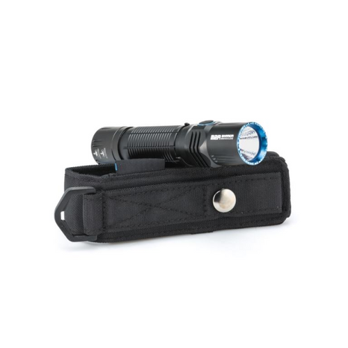 M2R led color: COOL WHITE.   The flashlight Olight M2R is our brand new rechargeable dual switch LED tactical flashlight. This flashlight is equipped with the latest XHP35 HD LED powered by a single high discharge rate 18650 with an output range of 1 to 1,500 lumens. The M2R features a quiet tail switch with minimal noise when being clicked on for tactical purposes. The tail cap of this light can magnetically charge directly through the tail tactical switch. The side switch has a similar operation as the OLIGHT S series flashlights, while the tail switch can be switched between conventional and enhanced tactical operation modes allowing the user to access turbo or strobe with a single click. With its slim head, lanyard hole, and dual direction pocket clip, the M2R is the perfect tactical light to carry with you on any adventure.     Durable metal tail switch design making the M2R rechargeable directly from the switch with the OLIGHT signature USB magnetic charging cable.The tail cap uses a quiet tact switch and the side button is pronounced with a braille marking for ease of use in a dark and tactical situation.  It only takes a single press of the tail cap switch to access the 1,500-lumen turbo or strobe mode for high-stress situations.  Comes with a high capacity and high discharge rate 3500mAh 18650 lithium-ion battery that supports up to 1500 lumens with long runtimes.  Compatible with all 18650 batteries (with a discharge current over 6A and protection board) and the OLIGHT micro-dock.  Slim head design, detachable pocket clip for both carry directions and lanyard hole for an enhanced and comfortable user experience.  This flashlight can be turned on/off from either the side or the tail switch, making it adaptable to different operational habits.