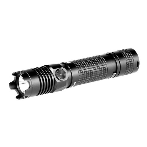 The M1X Striker is a dual-switch tactical LED flashlight featuring a high intensity output with a compact form factor. The M1X Striker features 5 brightness levels ranging from 0.5lm to 1000lm plus a strobe mode. The light is powered by 2 × CR123A batteries or a 1 × 18650 battery. With a strike bezel and a dual-switch for tactical application, the M1X Striker is an ideal flashlight for self-defense and every day carry.    KEY FEATURES: Ÿ   Five brightness levels from 0.5lm to 1000lm plus a strobe mode. Ÿ   A high intensity output with a compact form factor. Ÿ   With a strike bezel and a dual-switch for tactical application