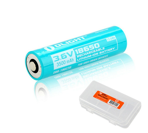 3500mAh 18650 battery specifically compatible for magnetic charging in the Baton Pro, S30R II, S30R III and S2R Baton.