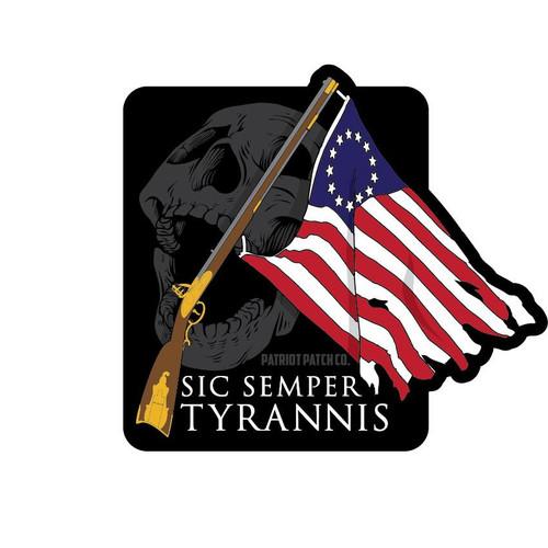 Sic Semper Tyrannis sticker (Patriot Patch Co