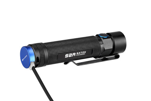 S2R baton utilizes our signature TIR Optic lens with a boosted output of 1020 lumens over the previous 950 in the S2 Baton. The S2R employs our widely popular magnetic charging system which can be charged through a varity of USB power suppliers such as a laptop or power bank on the go. The S2R Baton is the definition of a perfect flashlight to meet any one's everyday needs.  The extremely compact S2R baton includes our signature magnetic tailcap allowing it to secure to any ferrous metal for hands free use. The hardened stainless stell pocket clip allows for a solid attachment to a back pack, belt, hat, or packet for easy access.  When the flashlight is on, double click and hold the side switch to enter the timer settings mode. A single blink accesses the short timer(3 minutes) while two blinks access the long timmer(9 minutes). Double click and hold the side switch again to switch between the short and long timer. The flashlight will automatically turn off when the timer is up.  Features:  XM-L2 LED with a maximum output of 1,020 lumens. Includes a 3200mAh 18650 rechargeable lithium battery which is charged magnetically through the tailcap charging cable. Portable faster charging MCC USB charging cable provided in the package. Brand-new TIR lens design producing a perfectly balanced beam. Flat tailcap with a strong magnet allowing the ability to use as a hands-free work light. Multi-function side switch with five brightness levels.   GENERAL DATA Beam Distance (ft)	502 Beam Distance (m)	153 Max. Performance (lumens)	1150 Charge type	Magnetic USB charge base Compatible Batteries	customised 18650 Light Intensity (candela)	5800 Light Form	Wide/broad hotspot. Perfect for up close illumination. Lens / Reflector Type	TIR reflector (big, defined wide hotspot) Mode Operation	Side Switch Form/Size Factor	Medium size (Permanent Marker) Series	Series S (EDC, General Use) Unique Characteristics	 Industrial silicone wide switch for optimal performance and longevity Narrow diameter perfect for pocket/descrete belt carry while still allowing for a high runtime 18650 battery No roll design with distinct angles. Magnetic charging offering the easiest way to charge your light on the market LIGHTING LEVELS LEVEL 1 (lumens)	1020 Run-time LEVEL 1	 1020 lumens (2m) then drops to 500 lumens (3h10m) LEVEL 2 (lumens)	500 Run-time LEVEL 2	 3h20 LEVEL 3 (lumens)	120 Run-time LEVEL 3	 13 hours LEVEL 4 (lumens)	12 Run-time LEVEL 4	 120 hours LEVEL 5 (lumens)	0.5 Run-time LEVEL 5	 60 days Strobe	Yes SOS / BEACON	No TECHNICAL CHARACTERISTICS Waterproof	IPX8 Weight (g / oz)	101.5 / 3.58 Length (mm / in)	1005/ 4.13 Head Diameter (mm / in)	23 / 0.90 Body Diameter (mm / in)	21.5 / 0.84 Led	Cree XM-L2 Packaging	Custom plastic enclosure Use	everyday carry , key-chain, car, camping, fishing, household, EDC, general use Package Contents	 Flashlight ×1 Customized 3200 mAh 3.6V 18650 Battery ×1 MCC Magnetic Charging Cable x 1 User manual ×1 Pouch ×1 Lanyard ×1