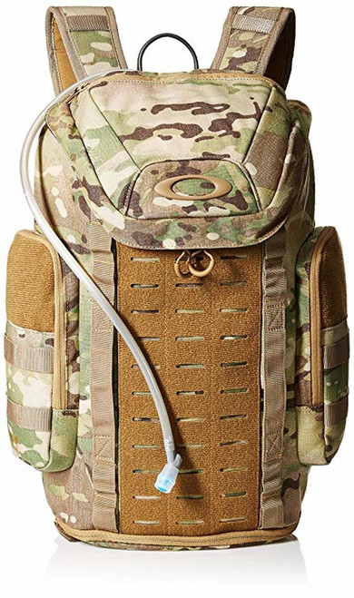 """PRODUCT OVERVIEW   Built for the hard-charging action-sport athlete, the Link Pack Miltac features tough 600D poly construction and comfortable, padded shoulder straps with a stabilizing sternum clip. An interior sleeve with included 2L water bladder provides ample hydration for the motivation to crest the next ridge, while multiple Velcro®: panels and daisy-chain webbing ensure you have all the necessary equipment to make it there. A dedicated footwear compartment keeps shoes separate from other gear, and a large ellipse logo shows the outdoors the driven spirit behind your single or multi-day journey.    MORE FEATURES ●Dual-zip main compartment offers ample storage ●Interior hydration sleeve stores included 2L water bladder ●Dedicated shoe compartment keeps footwear separate from other gear ●Adjustable, padded straps provide comfortable carrying ●Side pockets offer easy-access storage ●Padded eyewear pocket protects sunglasses ●Gear easily attaches to Velcro® panels and daisy-chain webbing ●Durable 600D polyester construction helps protect contents ●23L Capacity ●20.5"""" H x 12.5"""" W x 7.5"""" D ●100% Polyester ●Imported"""