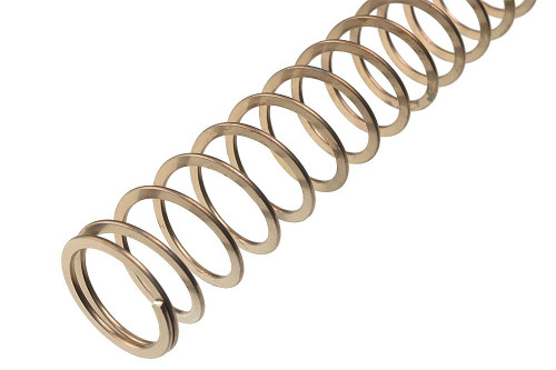 "The SI Carbine Flat Wire Spring is an economical and easy upgrade to any AR system with a carbine buffer system.  The flatwire spring increases service life of the platform, smooths out the shooting cycle, and greatly outlasts the stock spring.  Increased bolt load, in addition to decreased compression force increases reliability in cycling.  Additionally, all SI Flat Wire springs are cryogenically stress relieved to provide greater consistency, longer spring life, and greater resilience to high cyclic rates.   At a cost not much greater than stock carbine springs, the SI Flatwire is an easy option for those either looking to replace worn buffer springs or begin new builds.    Package includes: - 1x Carbine Length Flat Wire Spring  Features: - Cryo-cycled 17-7 ph steel for strength, reliability and longevity - Decreased harmonics lessens system vibration for faster follow up shots.  - Increased bolt load for more positive feeding  - Reduces distracting AR ""twang""     Product Specs: - OD: 0.94"" - ID: 0.75"" - Length: 13 7/8"" - Rev: 35 - Gauge (Flat Wire Profile): 0.045"" x 0.0935"""