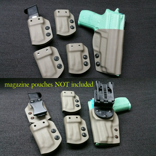 Duty/Competition holsters DO NOT include mag carriers