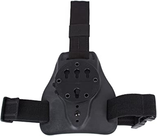 The G-Code MULE® is an ISS Carry Platform (Intermediate Suspension System) intended to bridge the gap between traditional belt and thigh transport options. It Rides Higher than a Drop Leg System and Lower than a Duty Mount. It gives the user total security of the weapon platform with the addition of a leg strap, but flexibility with the nylon down strap. Various Belt Attachment Methods are available for the MULE®.