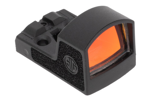 SIG Sauer ROMEO Zero Reflex Sight - 3 MOA DETAILS  The SIG Sauer ROMEO Zero red dot sight features an ultra-compact, lightweight, and durable design optimized for compact and sub compact concealed carry pistols. Unlike other pistol red dot sights, the ROMEO Zero is fully made from reinforced polymer including the lens which has been teste to withstand up to 10 times the impact force that a traditional glass lens can withstand. It features a highly efficient LED emitter that is 8 times more efficient than other red dots and can last up to 10 years on a single CR1632 battery. Additionally, the MOTAC motion activated system will turn off the 3 MOA red dot when sitting still and will automatically turn on the moment your pistol begins to move. An integrated rear sight is compatible with the standard front sight on the SIG P365 handguns allowing you to use your iron sights as an indexing point to quickly find the red dot.   Compatible Mounts: Shield RMS-c J-Point Not compatible with ROMEO1 mounts   Features: 3 MOA dot reticle Polymer body and lens SpectraCoat HD lens coating Optimized for slim or sub compact pistols 8 brightness adjustment settings MOTAC motion activated LED 10 year 20,000 hour battery life   Sig Sauer is a world-renowned firearms manufacturer with a rich history of innovation and design leadership. No other firearms manufacturer is so highly regarded and so universally respected for the quality, reliability, and safety of its products. Since 1864 they have expanded their product line to include suppressors, optics, ammo, and airguns to provide customers with a greater range of firearms and equipment. See Less     SPECIFICATIONS  BaseNot Included Battery Life20000 Hours Battery TypeCR1632 3V Lithium Coin BrandSig Sauer Brightness8 Settings MaterialPolymer Night Vision CompatibleNon-Compatible Reticle3 MOA Dot Reticle ColorRed SizeMini Reflex WarrantySIG Sauer Electro-Optic Infinite Guarantee Weight.4 oz.