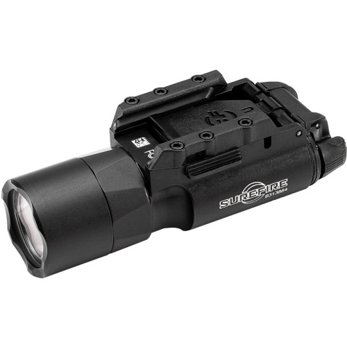 The best-selling SureFire WeaponLight, now generating 1,000 lumens Rail-Lock® system permits rapid attachment to and removal from rails on pistols or rifles Accessory switches for pistols and tape switch for long guns available. Activate without altering grip Trust The Standard. Popular with law enforcement and military operators around the world, the Rail-Lock® version our best-selling WeaponLight now delivers a stunning 1,000 lumens of LED-generated output. Focused by a precision TIR lens, it creates a far-reaching high-intensity beam with a larger center spot that is extremely effective combination for close- to medium-range engagements. You can count on the X300U-A to help you positively identify threats at significant distances while temporarily impairing your adversary's vision. It also provides extensive peripheral illumination for maintaining situational awareness. Ambidextrous switching provides one-finger control of momentary-on or constant-on activation. Its rugged, aerospace aluminum body is Mil-Spec hard anodized for scratch and corrosion resistance and sealed to make it weatherproof. It's also IPX7 waterproof to 1 meter for 30 minutes.The X300U-A delivers a standard of excellence you can trust.