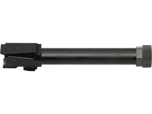 "PRODUCT DESCRIPTION Adams Arms FGAV47003: The VooDoo Innovations Glock Match Grade Barrel is designed as an improved drop-in fit. The barrel is machined to tighter fitment tolerances to increase accuracy potential without the need of gunsmith fitting. It features a Saami spec 9mm match chambering, match grade rifling, and machined from 416rd stainless steel. This threaded model has a black melonite/PVD finish, 1/2x28"" threads, and includes a thread protector. It is compatible with Glock 17 slide and frame.    SPECS SKU	ACC-ADAMS-FGAV47003 License Requirement	None Manufacturer	Adams Arms Mfg. Part Number	FGAV47003 UPC	812151021427 Caliber/Gauge	9mm Barrel Length	4.8 Barrel Twist	1:16 Barrel Bore Type	Rifled Barrel Finish	Melonite/PVD Barrel Fluting	None Firearm Fit	Glock Condition	New Weight	0.50 Lbs"