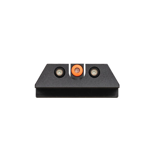 "Night Fision Perfect Dot™ Night Sight Set with Front + ""U"" Rear (UPC: 810116032747) Orange Front Perfect Dot™ with Green Tritium + Black Rear Perfect Dots™ with Green Tritium Fits CZ-USA P-07 & P-09"