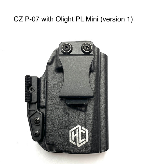 Quick-Ship Stealth: CZ P07 with Olight Pl Mini (version 1)-Right Handed-Fomi Clip or DCC Monoblock (specify in notes)- Mod Wing-No Sweat guard    FREE SHIPPING!