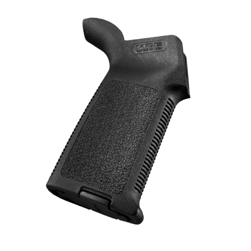 Made in the USA, the MOE Grip (Magpul Original Equipment) is a drop-in upgrade for the standard AR15/M4 pistol grip. The ergonomic, hand filling design combines anti-slip texturing with storage core capability. With a similar shape to a 'medium' sized MIAD, the one-piece reinforced polymer construction provides simplicity and a reduced cost while still maintaining the durability needed to withstand operational environments. The MOE Grip accepts optional Storage Cores for gear stowage and includes a basic grip cap. All mounting hardware included.