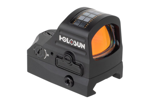 Holosun HS507C-X2 Pistol Red Dot Sight - ACSS® Vulcan™ Reticle DETAILS The Holosun HS507C-X2-ACSS is a new generation of pistol red dot sight packed full of features like the multiple reticle system, solar failsafe, and shake awake technology to ensure your reflex sight is always operational when you need it. On top of the two battery saving techniques, the HS507C-X2 reflex sight features a 50,000 hour battery life on setting 6 with the CR1632 battery. This battery is located in a convenient tray that slides out and allows you to easily change it without having to remove the optic from your pistol. This model features the revolutionary, patent pending ACSS Vulcan reticle with outer circle. It features a 7075-T6 aluminum construction with an anodized black finish and fully multicoated glass for long term durability that is backed by Holosun's limited lifetime warranty.  Features: Great for handguns, rifles, PCCs, and shotguns Solar failsafe Exclusive, patent pending ACSS Vulcan reticle Large outer reference circle can be deactivated per user preference 10 MOA center chevron 2 Reticle modes Shake awake technology Red LED Multicoated glass 7075-T6 aluminum construction Black hardcoat anodized Convenient battery tray 50,000 hour battery life Powered by (1) CR1632 Li Ion Battery Includes picatinny mount Holosun Limited Lifetime Warranty   The revolutionary patent pending ACSS Vulcan reticle provides a large circle guiding the eyes towards the 10 MOA center chevron, eliminating one of the biggest challenges for shooters new to slide mounted red dots. If you are off-center, a portion of this outer circle will appear in the window to give you instant reference on how to get centered. The circle phases out of the sight window completely when the center chevron is properly aligned in the sight window. This patent pending reticle function significantly improves sight acquisition. It takes the common frustration of hunting for the center reticle out of the equation. Don't need 