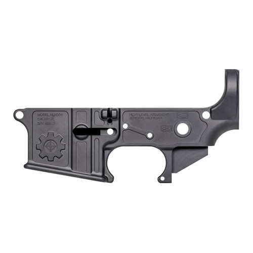 NLX556 Elite AR15 Lower Receiver- Billet Quality Next Level's forged lower receivers start with pure 7075 t6 aluminum forgings, giving you a strong platform to anchor your rifle build. We make the lower lightweight with precision machining, creating our unique design and saving crucial ounces on your AR15 Build.  We give you true billet quality at an affordable price.  Whether you hunt, plink, or shoot competition, the NLX556 Elite Lower creates a great platform for your rifle.  Combined with the NLX556 Elite Upper receiver, your rifle will be one of the lightest on the market, all without sacrificing strength or quality.  Add our 13″ Mlok rail to complete the one of a kind look.  Our Elite lowers weigh in at 8.4 oz.