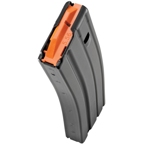 DURAMAG SPEED 5.56/.223/300BLK DURAMAG Speed™ magazines are a truly improved USGI magazine. These battle-proven magazines are lightweight, durable and have been the magazine of choice for OEM, Law Enforcement and Military units throughout the world since we began producing in 2011.  DURAMAG Speed™ bodies are constructed of 6061-T6 aluminum and are type-III hard-coat anodized. Unlike other magazines that use inferior coatings to color their USGI style magazines, our wide range of colors are part of the anodizing process and thus, a part of the metal. These magazines and are safe for extended storage while loaded and will not flex or swell like polymer. With our Progressive die tooling, Post and Hole™ design, and fully robotic welding, you can truly depend on these magazines to be consistent every time you buy them, guaranteed.  Available in 30rd capacity and a wide range of colors. for quick caliber, specialty load identification, or to match your next build. 5rd, 10rd, and 15rd capacities are available in limited capacity 30rd bodies.  Color Disclaimer: Due to the chemical process that takes place during Type 3 Hard-coat anodizing, product color finish can vary from one magazine to the next, even in the same batch. During the final Quality Control process, our team has an acceptable range for each color hue and rejects any magazine outside this color range.