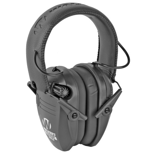 Walker's, Razor Sole, Electronic Earmuff, Single Microphone, Black Finish