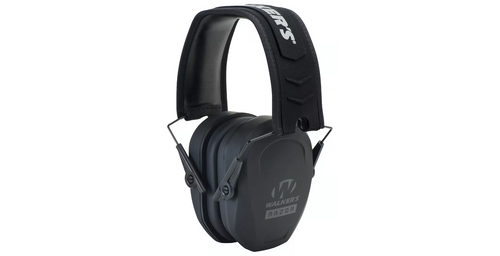 Optimized for comfort, Walker's® Razor Slim Passive Muffs have ultralow-profile earcups with a nonslip rubberized coating. Sound-dampening composite housings deliver a noise reduction rating of 27dB for solid hearing protection. The comfort headband with metal wire frame on Walker's Razor Slim Passive Muffs ensures a custom fit and folds up for compact carry. Manufacturer model #: GWP-RSMPAS.  Ultralow-profile earcups Sound-dampening composite housing Noise reduction rating of 27dB Comfort headband with metal wire frame Custom, comfortable fit Folds up for compact carry