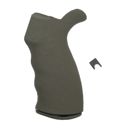 Fits AR-15 type firearms in .223 & .308 Ergonomically correct finger grooves Integrated rear upper extension supports the web of your hand Superior Rhino Hide™ texture improves weapon control Virtually impervious to oils and solvents Over molded SUREGRIP™ material with original texture. Comes with The Gapper™