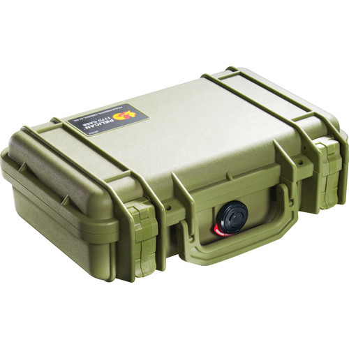 The Pelican 1170 Case with Foam (Olive Drab Green) is designed to carry a portable electronic device that requires protection form shock. It is a watertight, crushproof, and dust proof ultra-high impact copolymer case with a strong and lightweight open cell core with solid wall design. The interior has 1 base layer, a Pick N Pluck foam layer and a convoluted foam lid. It has easy open double throw latches, an automatic pressure equalization valve, an o-ring seal and stainless steel hardware. The case is carried by an oversized folding handle.  This case has a 3-piece foam set interior.  Construction Watertight, crushproof, and dust proof ultra-high impact copolymer case Strong and lightweight open cell core with solid wall design 3-piece foam set interior Easy open double throw latches Automatic pressure equalization valve O-ring seal Stainless steel hardware Three-piece foam set contain 1 base foam layer, 1 Pick N Pluck foam layer and 1 convoluted lid foam layer Temperature rating -40 to +210°F (-40 to +99°C) Oversized folding handle 1170 Certifications IP67 (1 meter submersion for 30 minutes)  UPC: 019428094249