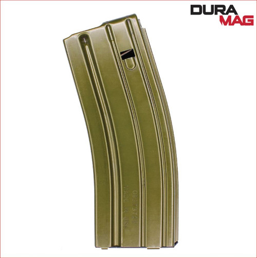 CPD Duramag Speed AR-15 30RD OD Green Magazine Description New from C Products Defense, the CPD Duramag Speed OD OD Green 30 Round Magazine. CPD's Duramag line is known their durability, precision, and exceptional build quality – this CPD Duramag Speed AR-15 30RD OD Green Magazine is no exception. Its 410 Stainless Steel body holds together many key features:  Its Proprietary Liplock™ design that assures perfect round placement A Black, Advanced Geometry Follower for smooth feeding Durable Teflon-360 coating technology that enhances magazine-wide performance & reliability EverFlex™ anti-fatigue spring technology CPD Duramag guarantees to work the first time, every time. And now, the new CPD Duramag Speed AR-15 30RD OD Green Magazine is strong and reliable – guaranteed. Pick one up from The Mag Shack today.  Specifications  UPC766897412288ManufacturerDURAMAG Manufacturer Part #3023008175CPDTypeMagazine Caliber.223 Rem / 5.56 NATOCapacity30Rd ColorOD Green AluminumFitAR-15