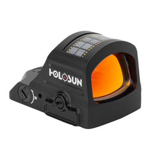 Holosun 407CO X2 Red Dot Sight The Holosun 407CO X2 Red Dot Sight provides a large field of view paired with useful features that will help you stay on target while greatly reducing target acquisition time. The X2 model offers upgraded features such a side access battery tray, which allows the operator to change the battery without un-mounting the product. Holosun machined this product from light yet rugged 7075 T6 aluminum and added a multicoated lens that provides a bright, crisp sight picture.  The Holosun HS407CO X2 LED Red Dot Sight uses both Solar Failsafe technology and a high capacity lithium battery to power the optic, ensuring you'll always have a reliable point of aim in the field. These optics are designed with Shake Awake technology that senses motion to power the sight on and off, and last setting recall ensures you don't lose your customized options once the unit powers down. This model offers up to 50,000 hours of battery life and an 8MOA ring only reticle. Enhance your shooting skills and create a better experience at the range by equipping your firearm with a Holosun HS407CO X2 8MOA Ring, Red Dot Sight.  Specifications Light SourceLED Wavelength650nm Reticle8 MOA Circle Magnification1× BatteryCR1632 Battery Life (Setting 6)50,000 Hours Brightness Setting10 DLt & 2NV Compatible Housing Material 7075 T6 Aluminum Surface FinishAnodized Housing ColorBlack Adjustment per Click1 MOA W&E Travel Range±50 MOA Storage Temperature-40℃~70℃ Working Temperature-30℃~60℃ SubmersionIP67 Vibration5000G Window Size0.63 × 0.91 in Dimension1.78 × 1.15 × 1.15 in Weight1.5 oz