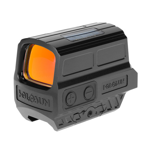 The HS512C is an enclosed reflex optical sight designed for rifle and carbine applications. Features include Holosun's Super LED with up to 50k hours battery life, Multi-Reticle System, Solar Failsafe, and Shake Awake.  In the Box   Absolute Cowitness Mount    T10 L Key    User Manual    CR2032 Battery    Lens Cloth   OPTICAL DATA Reticle2 MOA Dot & 65 MOA Circle Light Wavelength650nm Reticle ColorRed Parallax FreeYes Unlimited Eye ReliefYes Magnification1x Multi-CoatingsYes ELECTRONIC DATA Power SourceSolar & Battery Battery TypeCR2032 Battery Life (Hours)50000 Brightness Setting10 DL&2 NV PHYSICAL DATA Window Size0.91x1.26 Dimension (in)3.35x1.63x1.7 Weight (oz)8.1 MECHANICAL DATA Housing MaterialDurable Aluminum Surface FinishMAO Adjustment per Click0.5 MOA W&E Travel Range±50 MOA ENVIRONMENT DATA Storage Temperature-40℃~70℃ Working Temperature-30℃~60℃ SubmersionIP67 Vibration1000G