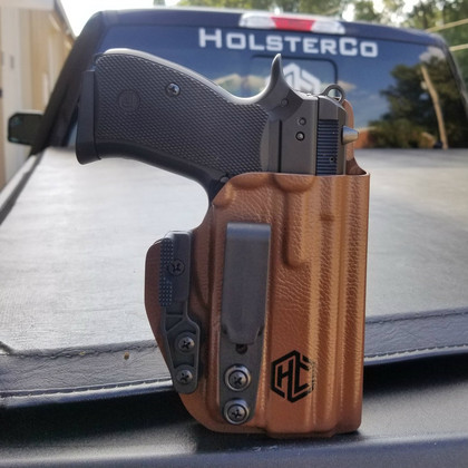 Hunting HD Concealed RH LH OWB IWB Leather Gun Holster For