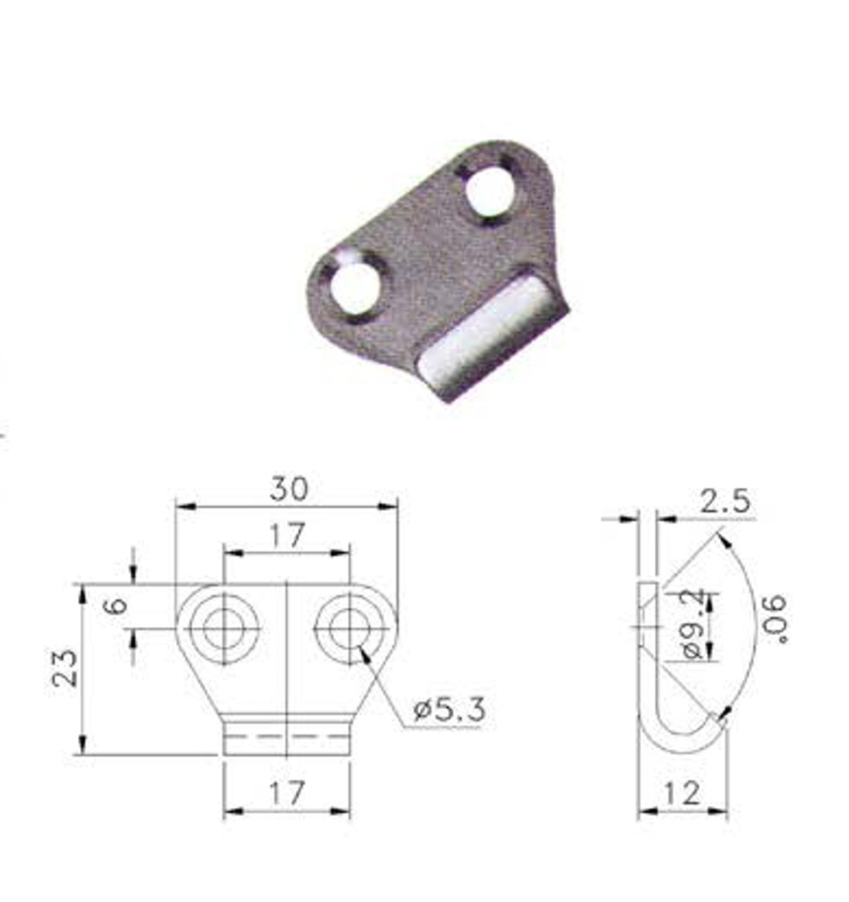 Fastener Catch Plate Ss Suit 702 Series