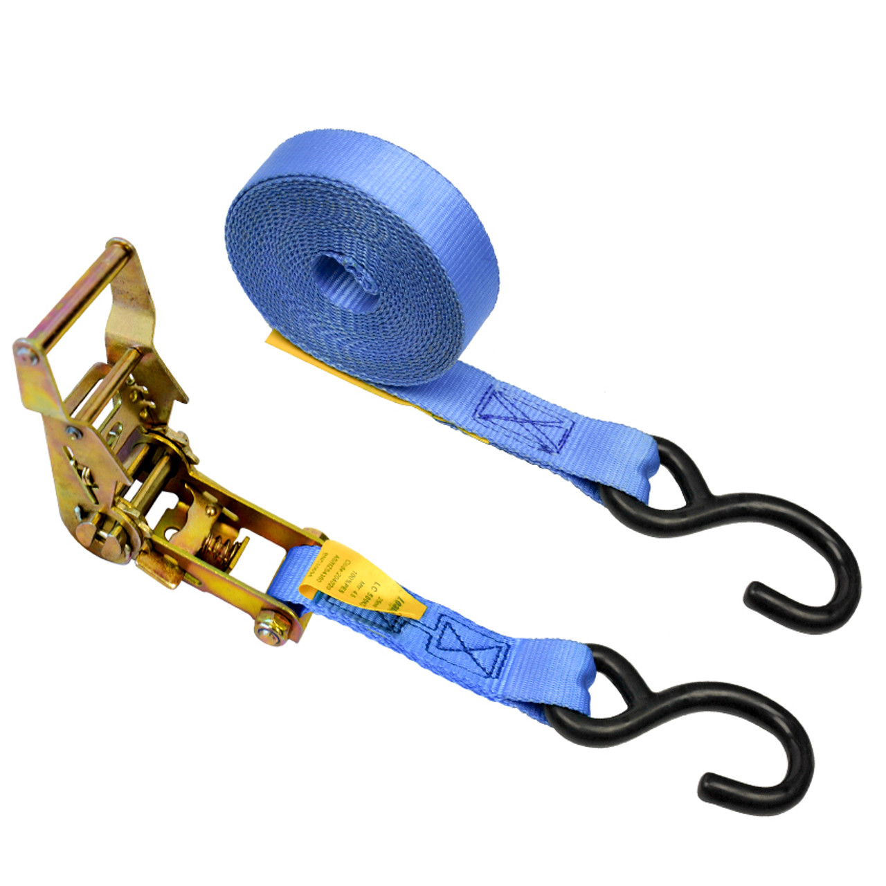 25mmx4.5m Ratchet Tie Down S Hooks