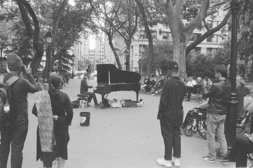 Washington Square piano concert.