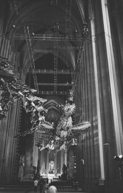 Both phoenix sculptures in St. John Divine Cathedral.