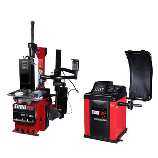Eurotek tyre changer and wheel balancer pro pack 2